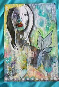 Hey, I found this really awesome Etsy listing at https://www.etsy.com/listing/451436506/print-of-a-mixed-media-collage-pisces