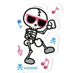 Dancing Bones - tokidoki Sticker