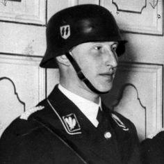 Reinhard Heydrich in helmet