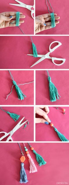 How to make beaded tassels - add to a bag! Fun and easy DIY project. <3 @benitathediva