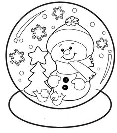 christmas snow globe whit snowman coloring pages for kids.christmas snow globe whit snowman coloring sheets printable for preschool.free online christmas snow globe activities worksheets for kids. Christmas Snow Globes, Christmas Svg, Christmas Colors, Christmas Design, Snowman Coloring Pages, Printable Coloring Pages, Christmas Activities, Christmas Printables, Christmas Templates