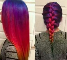 Ombre Multi-coloured Hair