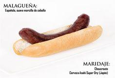 Malagueña: española, suave morcilla de cebolla