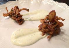 Curtis Stone's Onion Bhaji With Coriander Crème Fraîche Recipe | Food Republic