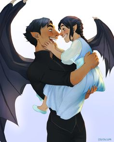 Papa Rhys and his little bat by cccrystalclear. Rhysand x Feyre. Sarah J. Maas - This is seriously the cutest thing I've ever seen in my entire life. A Court Of Wings And Ruin, A Court Of Mist And Fury, Feyre And Rhysand, Sarah J Maas Books, Fanart, Throne Of Glass Series, Crescent City, Book Characters, Book Nerd