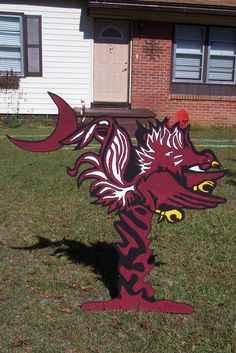 "Giant 4ft Carolina Gamecock ""Palmetto & Moon"" yard sign Show Your Team Spirit. $75.00, via Etsy."