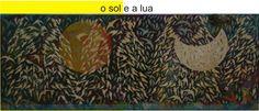 pintura acrílica em chapa de ferro aplicada com ponta de lápis - ( 40x110 ) cm