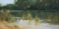 "River Morning by Simon Addyman Oil ~ 8"" x 16"""
