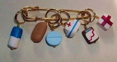 Stitch Markers NURSES HEAL the heart  for Knit or by fcwhimsey, $12.99