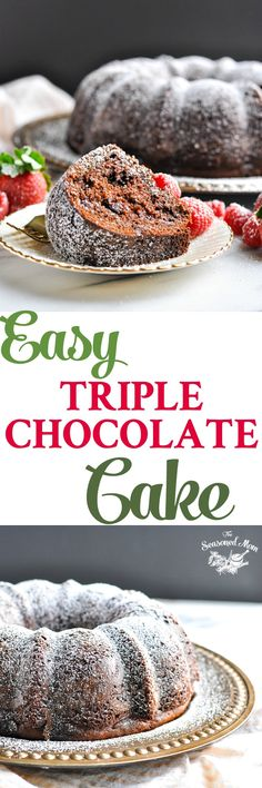 With a little bit of help from a boxed mix (plus a few secret ingredients), Easy Triple Chocolate Cake is ready for the oven in about 10 minutes!