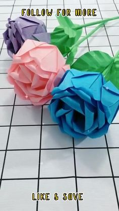 Cool Paper Crafts, Tissue Paper Flowers, Paper Crafts Origami, Diy Crafts For Gifts, Paper Roses, Rose Crafts, Flower Crafts, Paper Flower Tutorial, 3d Origami Tutorial
