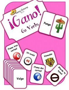 """A group game based on a popular card game which helps students practice their verb conjugations. This game focuses on """"Go Verbs"""" or """"Yo Go"""" conjugations in the present tense. Students can play draw two cards, draw 3 cards, wild cards or reverse the play."""