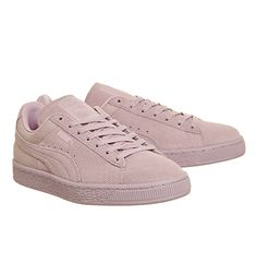 Buy Lilac Snow Emboss Puma Suede Classic from OFFICE.co.uk.