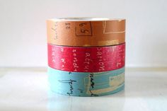 New collection of Graffiti washi tape. This is from the set B.