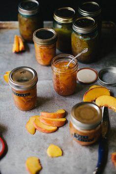 Peaches in Jars: Peach Marmelaid & Peach Syrup for Tea by julie marie craig, via Flickr
