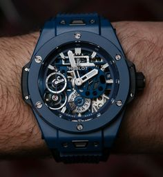 Hublot Meca-10 Ceramic Blue Watch