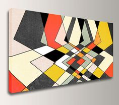Distortion by The Modern Art Shop on Etsy. Mid Century Modern Geometric Art 40x24