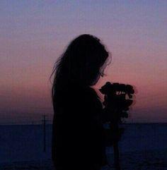 Imagen de girl, sunset, and grunge
