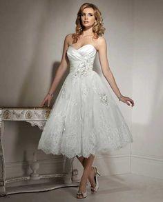 trajes de novia cortos 9