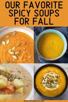 Here's a round-up of all of our spicy soup recipes. We have so many soup recipes that are great for fall, too! #soupsforfall #spicysoups #spicysouprecipes #fallsoups #fallsoupshealthy #fallsouprecipes