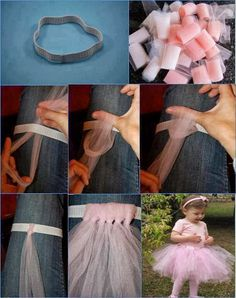 Croche pro Bebe: Saia de tule infantil linda!