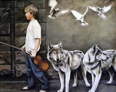 Orpheus Signed Limited Edition Mounted Framed prints also available, please contact us for details Wolf Mythology, Patriotic Pictures, Glasgow School Of Art, Limited Edition Prints, Burns, Beast, Contemporary Art, Framed Prints, Fine Art