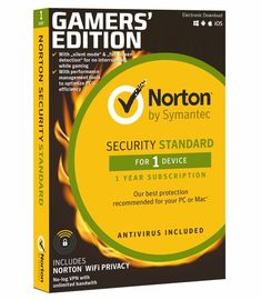 NORTON SECURITY Standard Gamer Edition 1 -PC 1-Jahr  Norton WiFi Privacy #BOX