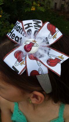 Miami Heat Glitter Headband or Bow by BerryBlondeRibbon on Etsy https://www.etsy.com/listing/227487058/miami-heat-glitter-headband-or-bow