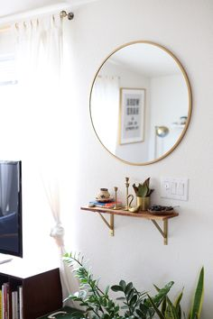 Catch-all shelf | west elm - Big Style In A Small Pre-Fab Home in Arizona