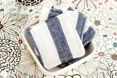 Homemade makeup remover wipes.