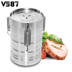 Cylinder Stainless Steel Press Ham Patty Maker Meat Poultry Seafood Cooking Helper Maker Household Cooking Tools Kitchenware meal