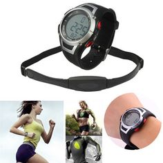 Sport Digital Watch Heart Rate Monitor Chest Strap Belt Waterproof