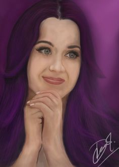 Katy perry realistic digital painting