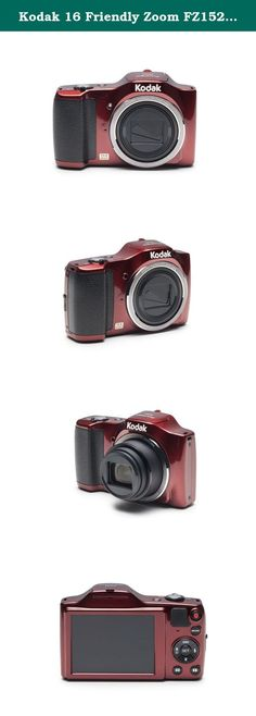 """Kodak 16 Friendly Zoom FZ152 with 3"""" LCD, Red (FZ152-RD). If you're looking for a powerful, compact camera that captures life's special moments, then look no further. The FZ152 has 15X zoom, over 25 shooting modes and a wide angle lens that captures more out of every shot. What are you waiting for? KODAK PIXPRO Digital Cameras. Tell your story."""
