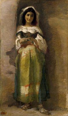 """""""Ciocciara"""", Eduardo Rosales Gallinas, 1862. Museo Nacional del Prado"""