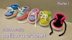 Cómo tejer zapatitos botitas escarpines bebé crochet, ganchillo - VARIOS...