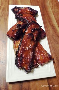 orange marmalade dijon mustard pork ribs  - Wake up the natural flavors in your food with Ac'cent - accentflavor.com #accentflavor  #pork #ribs #glazed
