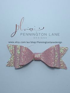 3 Light Pink Glitter Hairbow on Alligator clip One More Step, Hairbows, Pink Glitter, Trending Outfits, Unique Jewelry, Handmade Gifts, Etsy, Kid Craft Gifts, Craft Gifts