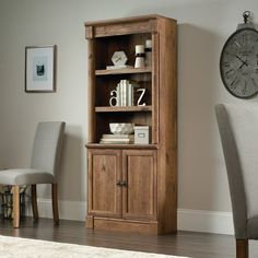 """Sagers Library 72"""" Standard Bookcase with Doors"""