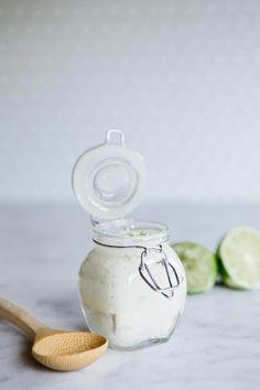 homemade DIY coconut lime sugar scrub