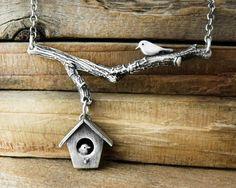 Birdhouse necklace no. 7 by lulubug