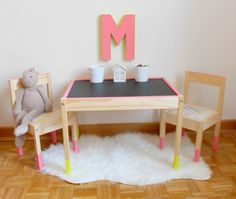We love it when people take something that is inexpensive and simple in design and give it a wham-bam makeover. Here we take a look at 9 different IKEA hacks to help you pimp up the IKEA LATT children's table and chair set.