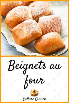 Beignets au four Beignets, Ramadan Recipes, French Food, Quick Bread, Sweet Bread, Sweet Recipes, Donuts, Sweets, Snacks