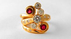 Upcycled Design: using clients gold and gemstones to create contemporary custom designs. http://jeanettewalkerjewellery.com