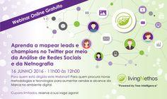 Saiba mais aqui: http://treeintelligence.com/webinar-aprenda-a-mapear-leads-e-champions-no-twitter-por-meio-da-analise-de-redes-sociais-e-da-netnografia/
