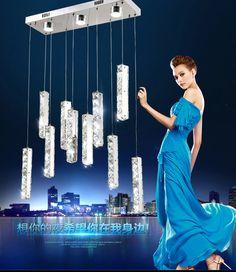 Modern Stainless steel Ceiling lamp Crystal LED Chandelier Fixture Crystal Lustre 10 lights led Light sitting room Chandeliers