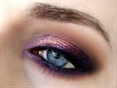 Purple eyeshadow