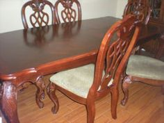 Cherry Wood Dining Table And China Cabinet With Stand REDUCED