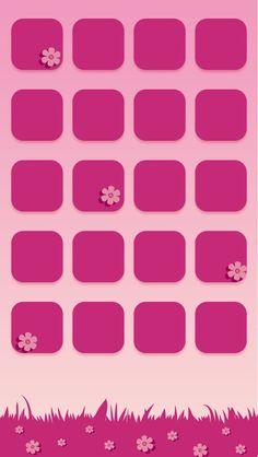 Pink Shelf and Flower Wallpaper