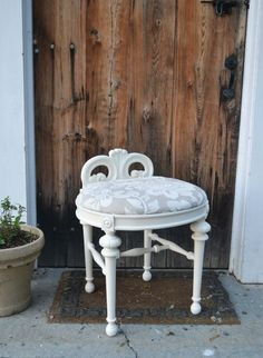 Cut Down A Vintage Chair For Bathroom Vanity Stool